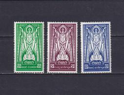 IRELAND 1937, SG# 102-104, CV £450, Art, Religion, MH - Unused Stamps