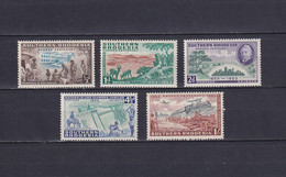 SOUTHERN RHODESIA 1953, SG# 71-75, Architecture, MH - Southern Rhodesia (...-1964)