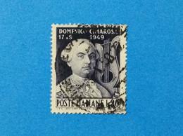 1949 ITALIA FRANCOBOLLO USATO ITALY STAMP USED MUSICISTA COMPOSITORE DOMENICO CIMAROSA - 1946-60: Used