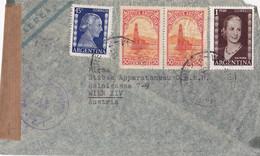 25995# ARGENTINE LETTRE PAR AVION CENSURE Obl BUENOS AIRES ARGENTINA Pour WIEN AUSTRIA VIENNE AUTRICHE - Lettres & Documents