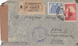 25997# ARGENTINE LETTRE RECOMMANDEE CENSURE Obl BUENOS AIRES ARGENTINA 1946 WIEN AUSTRIA VIENNE AUTRICHE VIENA - Lettres & Documents