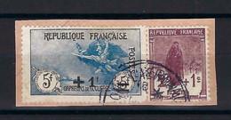 ⭐ France - YT N° 162 Et 169 - Oblitéré Sur Fragment - Orphelins Surchargés - 1922 ⭐ - Gebraucht