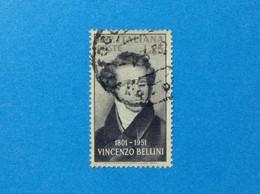 1952 ITALIA FRANCOBOLLO USATO ITALY STAMP USED COMPOSITORE VINCENZO BELLINI - 1946-60: Used
