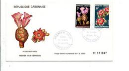 GABON FDC 1969 FLORE - Gabon (1960-...)