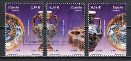 Espagne 2010 : Timbres Yvert & Tellier N° 4188 - 4189 - 4191 + Bande Des 4 Timbres Oblitérés. - 2001-10 Usati