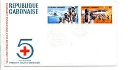 GABON FDC 1969 CROIX ROUGE AIDE AU BIAFRA - Gabon (1960-...)