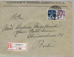 DANEMARK  Lettre Recommandée 1913 - Briefe U. Dokumente