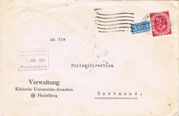 42146. Carta HEIDELBERG (Alemania Federal) 1953. Stamp NOTOPFER Berlin - Briefe U. Dokumente