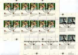 RC 21552 NATIONS UNIES GENEVE COTE 33€ N° 180 / 185 - 2 FEUILLES DROITS DE L'HOMME OBLITÉRÉES - Gebraucht