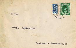 42147. Carta RASTATT (Alemania Federal) 1952. Stamp NOTOPFER Berlin, Correo Interior - Briefe U. Dokumente