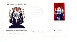 GABON FDC 1967 COMMISSION DU DROIT INTERNATIONAL - Gabon (1960-...)