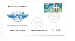 GABON FDC 1967 ORGANISATION DE L'AVIATION CIVILE INTERNATIONALE - Gabon (1960-...)