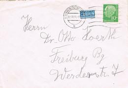 42148. Carta FREIBURG (Alemania Federal) 1955. Stamp NOTOPFER Berlin - Briefe U. Dokumente