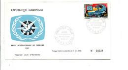 GABON FDC 1967 ANNEE INTERNATIONALE DU TOURISME - Gabon (1960-...)