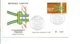 GABON FDC 1968 ASSOCIATION ECONOMIQUE EUROPE-AFRIQUE - Gabon (1960-...)