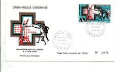 GABON FDC 1968 CROIX ROUGE - Gabon (1960-...)