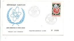 GABON FDC 1967 ANNEE INTERNATIONALE DE L'ENERGIE ATOMIQUE - Gabon (1960-...)