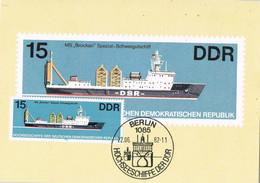 42150. Tarjeta Maxima BERLIN (Alemania DDR) 1982. Ship, Barco. MS-Brocken - Maximumkarten (MC)