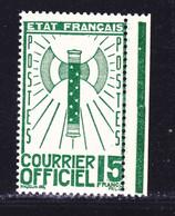 FRANCE SERVICE N°   14 ** MNH Neuf Sans Charnière, TB, Cote: 35 Euros (lot 1) - Ungebraucht