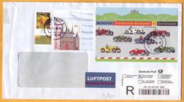 2009 2010 Deutsche Post Germany Motorsport Flowers, R-letter Einschreiben Cover Sport - Briefe U. Dokumente