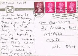 42153. Postal MID NORTHUMBERLAND (England) 1963. Vista Seahouses - Covers & Documents