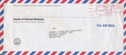 """""""ANNALS OF INTERNAL MEDICINE"""". USA ENVELOPE COMMERCIAL. CIRCULATED 1990. PHILADELPHIA TO ARGENTINA.- LILHU - Other"""