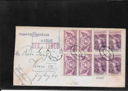 Usa 1935, Multifranked Cover San Diego To Austria,plate Number (Ref 2690) - Covers & Documents