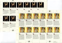 RC 21565 NATIONS UNIES VIENNE COTE 41€ N° 131 / 136 - 2 FEUILLES DROITS DE L'HOMME NEUF ** MNH ( VOIR DESCRIPTION ) - Ungebraucht