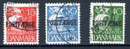 Danemark   Y&T    1940  3 Valeurs    Obl   ---    Bel état. - Paketmarken