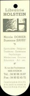 Marque-page - Librairie Holstein - Avignon - Marque-page Détouré / Découpé - Bookmarks