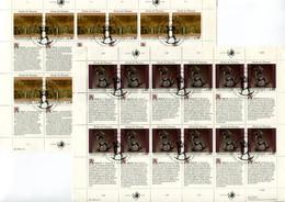 RC 21570 NATIONS UNIES GENEVE COTE 33€ N° 235 / 240 - 2 FEUILLES DROITS DE L'HOMME OBLITÉRÉES - Used Stamps