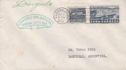"""SANATORIO GENERAL BATISTA"". CUBA ENVELOPPE COMMERCIAL. CIRCULEE 1954. HABANA A ARGENTINE- LILHU - Other"