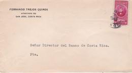 """FERNANDO TREJOS QUIROS"". COSTA RICA ENVELOPPE COMMERCIAL. CIRCULEE 1948. SAN JOSE- LILHU - Costa Rica"
