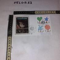 FB11655 FDC FILIGRANO GENOVA 1986 TIMBRO ANNULLO EUROPA 1986 PROTEZIONE DELLA NATURA - F.D.C.