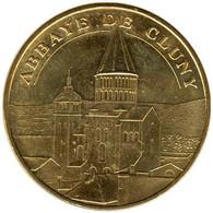 71-0940 - JETON TOURISTIQUE MDP - Abbaye De Cluny - Face Semi-cerclée - 2015.5 - 2015