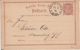 Sachsen Ablöser NDP Stempel Aptierter F-Stempel K1 Leipzig PA 2 Ganzsache DR Brustschild P 1 1874 - Sachsen