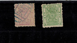 CHINA EMPIRE  2 Stamps Used & Mint - Unused Stamps