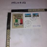 FB11662 FDC FILIGRANO ROMA 1984 TIMBRO ANNULLO ESPOSIZIONE MONDIALE DI FILATELIA ITALIA '85 - F.D.C.