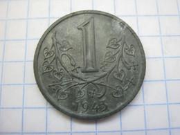 Bohemia & Moravia 1 Koruna 1943 - Czechoslovakia