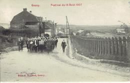 Gouvy Festival Du 15/08/1907 Fanfare Harmonie Proche De La Gare Du Chemin De Fer Trés Propre - Gouvy