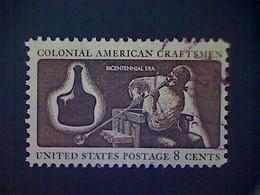 United States, Scott #1456, Used(o), 1972, Bicentennial: Glassmaker, 8¢ - Gebraucht