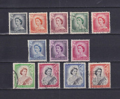 NEW ZEALAND 1953/59, SG# 723-733b, Short Set, Personalities, Used - Used Stamps