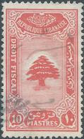 LIBANO - LEBANON - LIBAN 1930 Revenue Stamp TAXE FISCAL 10pia Used - Lebanon