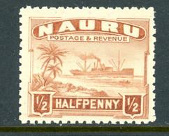 Nauru MNH 1924-48 Freighter - Nauru