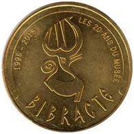 71-2121 - JETON TOURISTIQUE MDP - Bibracte - Les 20 Ans Du Musée - 2015.2 - 2015