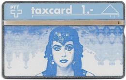 Switzerland - Swisscom (L&G) - K Series - K-91/5 - Kuki, Kunst Und Kino - 201L - 01.1992, 1Fr, 1.000ex, Used - Schweiz