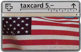 Switzerland - Swisscom (L&G) - K Series - K-92/250 - USA - Reisen Team Tour Travel Basel - 211L - 11.1992, 5Fr, Used - Schweiz