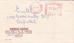 PARKE-DAVIS. ARGENTINE ENVELOPPE COMMERCIAL. CIRCULEE 1976. BUENOS AIRES.- LILHU - Lettres & Documents