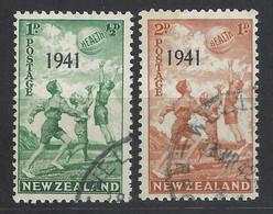 Nuova Zelanda - 1941 - Usato/used - Kids - Overprint - Mi N. 271/72 - Used Stamps