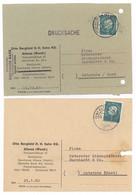 2x Beleg Otto Bergfeld H. H. Sohn KG Altena Westf. 1960 + 1961 Nach Osterode Harz - Briefe U. Dokumente